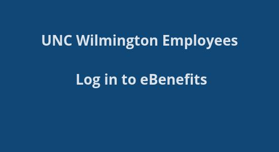 UNCW Benefits site login